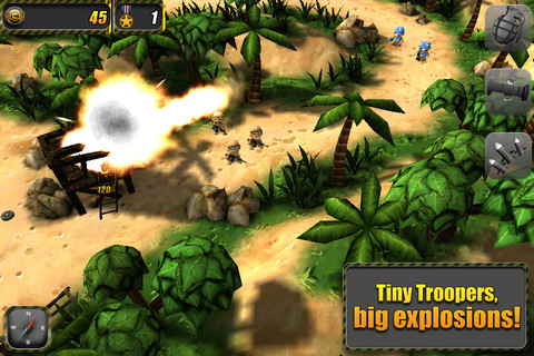 Fight big battles with small soldiers in Tiny Troopers for iPhone and iPad