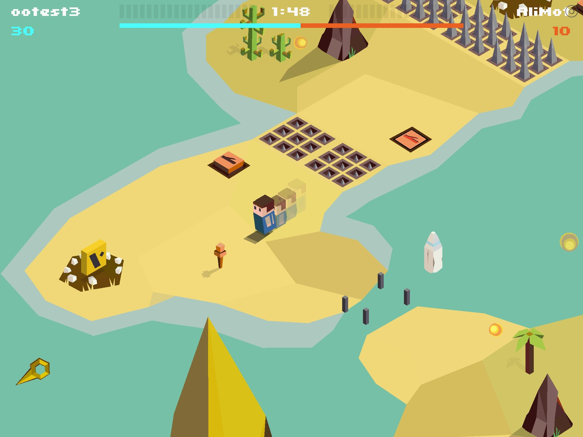 Battle with your other half among the primitive polygons in online multiplayer iOS game Anima