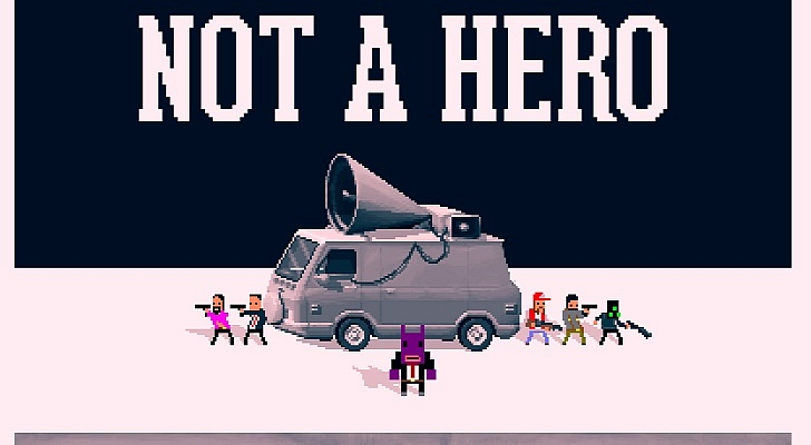 Not A Hero is an upcoming stylish cover shooter for Vita from the OlliOlli dev