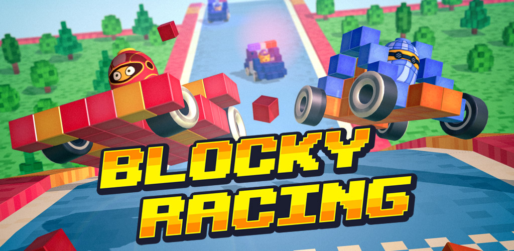 Put the pedal to the metal in Blocky Racing