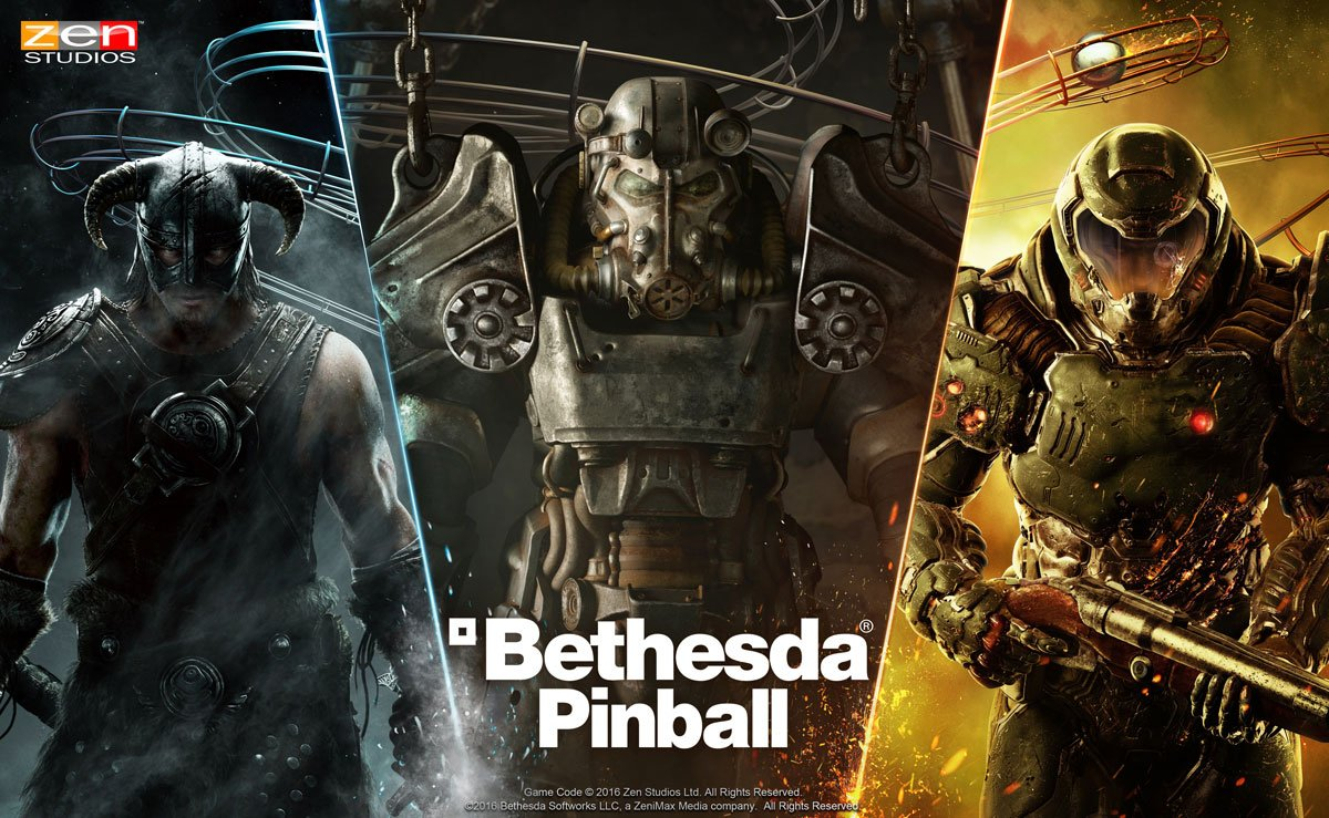 [Update] Zen Pinball features three iconic Bethesda titles, updated now on iOS and Android