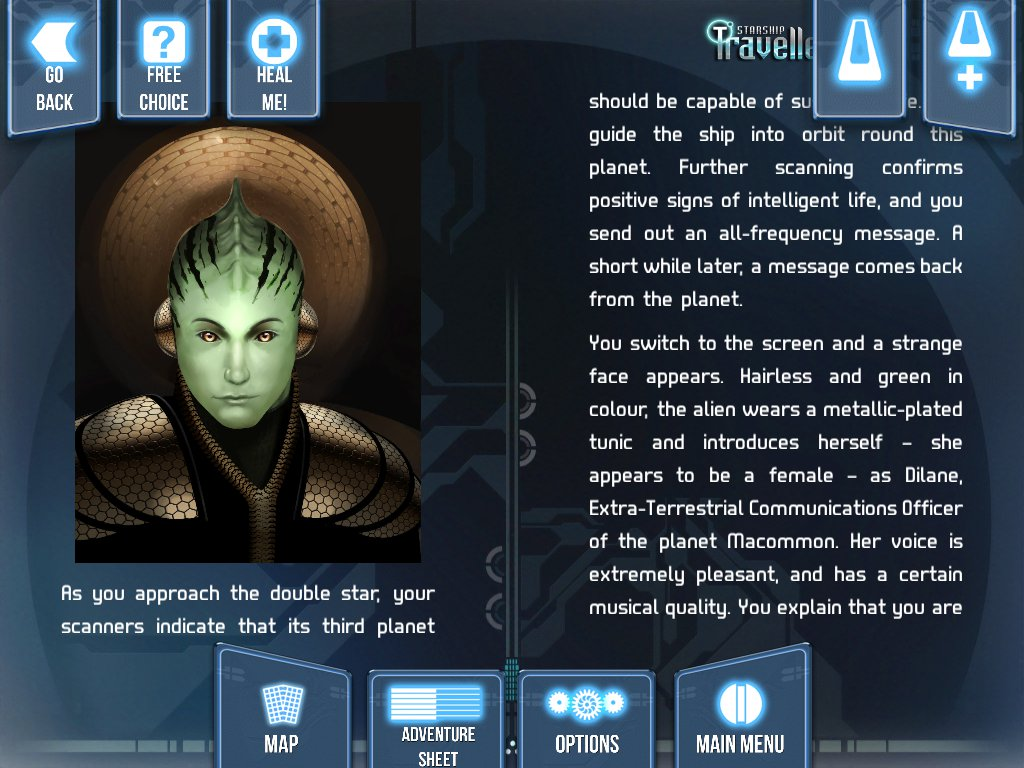 Starship Traveller is Tin Man Games's latest digital Fighting Fantasy gamebook, and it's available right now for iOS and Android