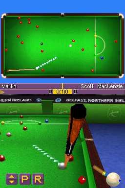 Steve Davies dons drag for World Snooker Championship 2007-08 DS