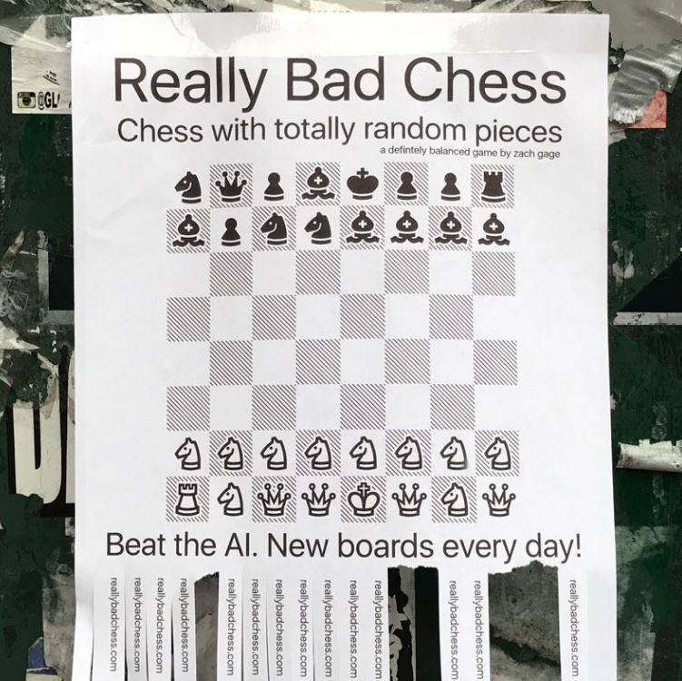 [Update] Zach Gage's Really Bad Chess is out now on iOS