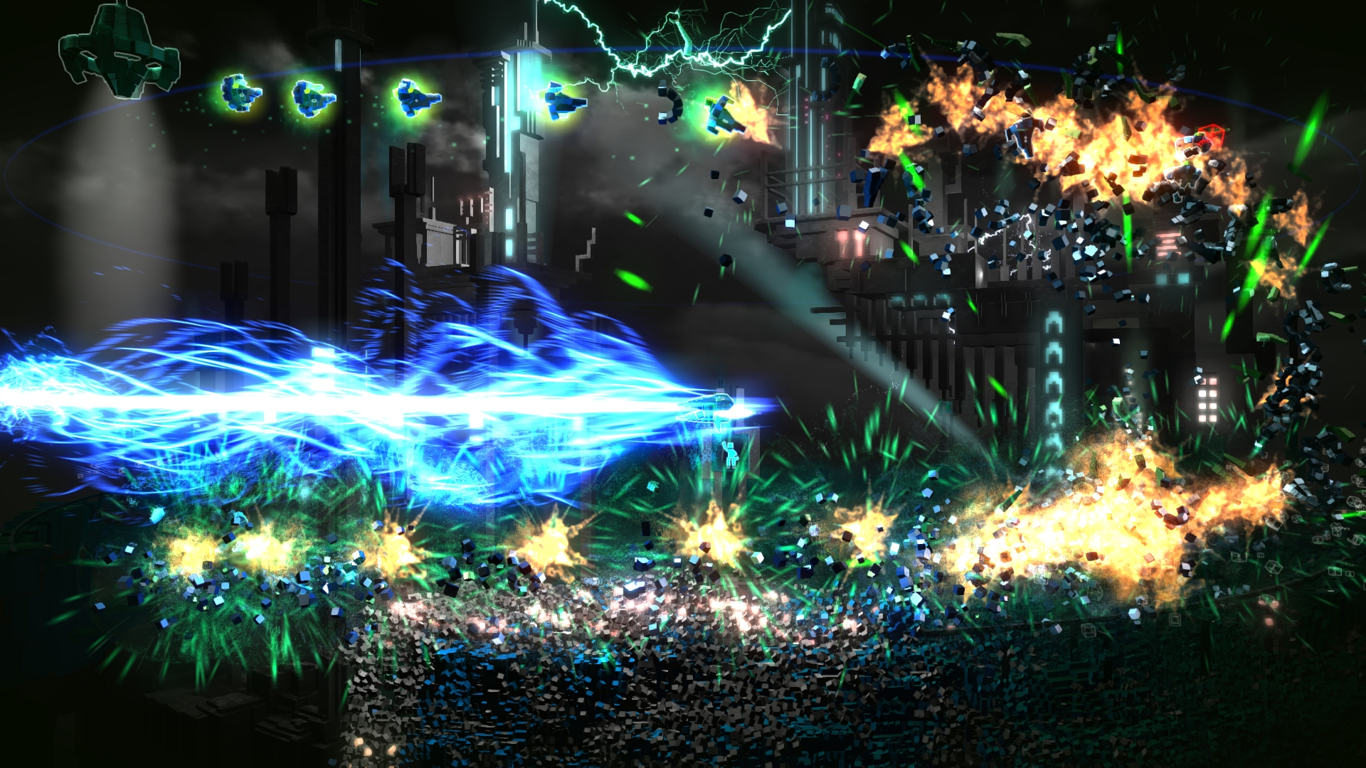 Colourful PS4 shooter Resogun has blasted its way on to PS Vita