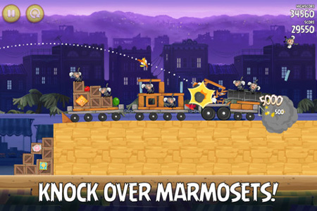 Marmosets invade the market in latest update for Angry Birds Rio