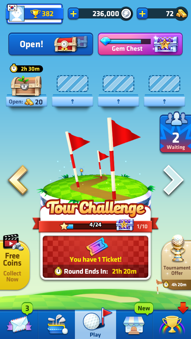Mini Golf King update introduces single-player mode