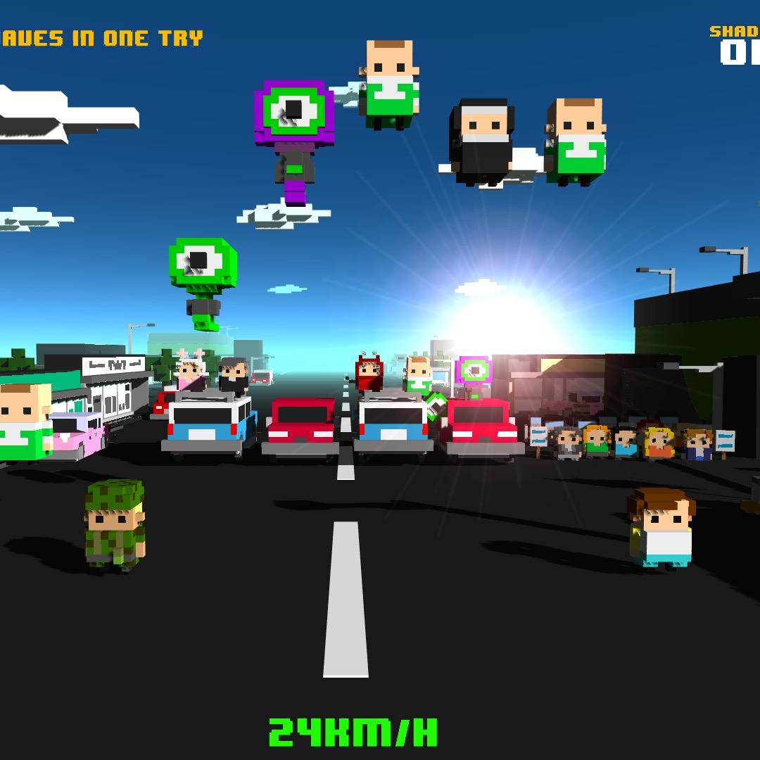 Barmy 4 player traffic hop game Chicken Jump came 2nd at the Gamescom 2015 Big Indie Pitch