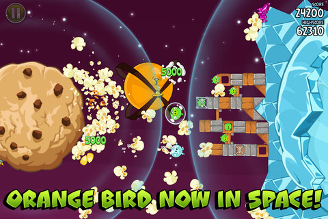 Angry Birds Space gets 20 new levels and Orange Bird in Utopia update