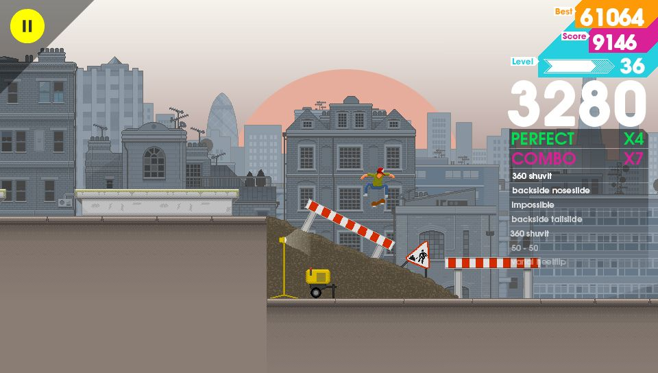 Twitchy skateboard sim OlliOlli will destroy your face on Vita later this month