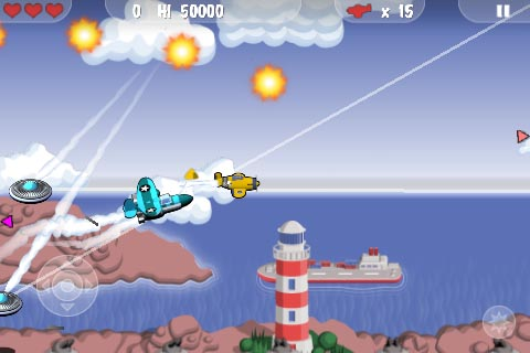 Arcade shoot-'em-up Mini Squadron targeting iPhone