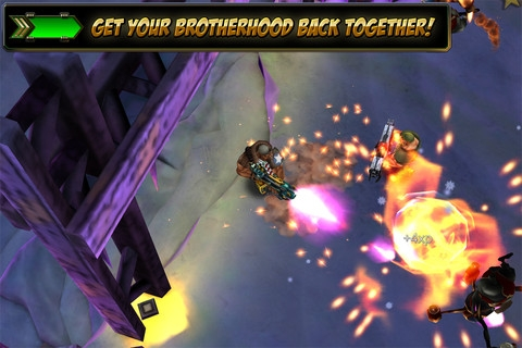 Gun Bros 2 shoots an iPhone 5 at point-blank range and walks triumphantly over to Android