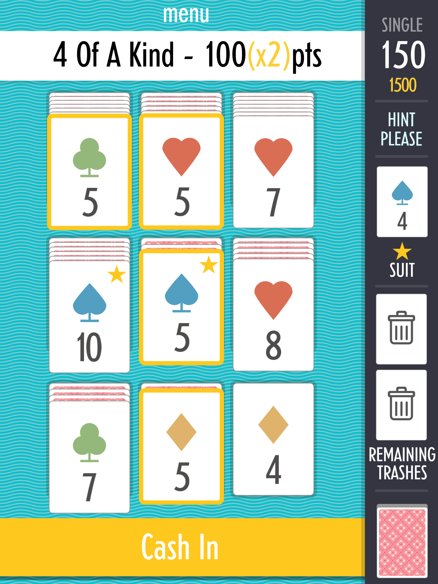 Sage Solitaire - A superb mash-up of solitaire and poker