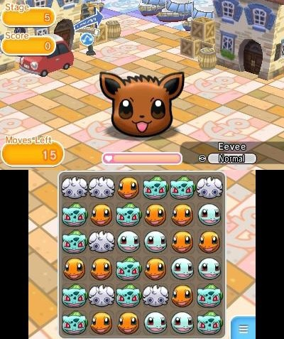 Pokémon Shuffle is a free to play match-3 game for 3DS, out in February