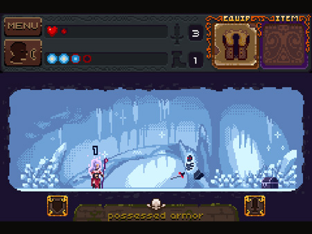 Hack 'n' slash your way through a pixel-art underworld in Deep Dungeons of Doom for iOS