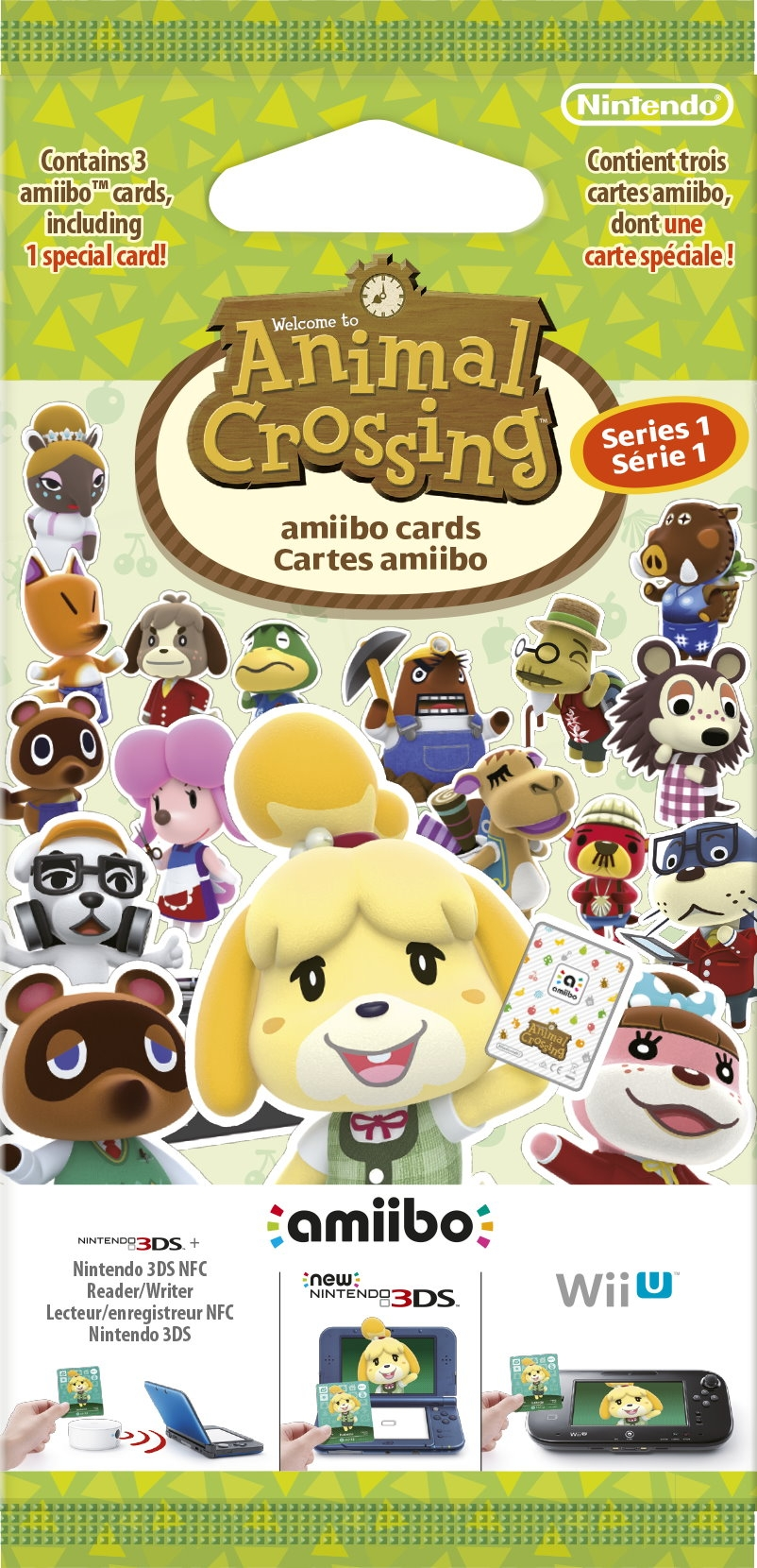European Animal Crossing Amiibo card packs will contain half as many cards as American packs