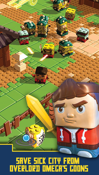 Transferring toy figures into Sick Bricks lets you swap their body parts for new powers