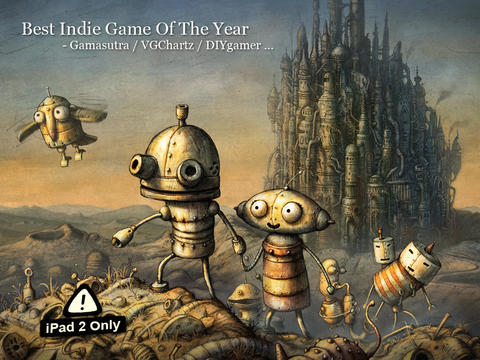 Gorgeous iPad 2-only adventure game Machinarium reduced to £1.49 / $2.99 until Jan 9th