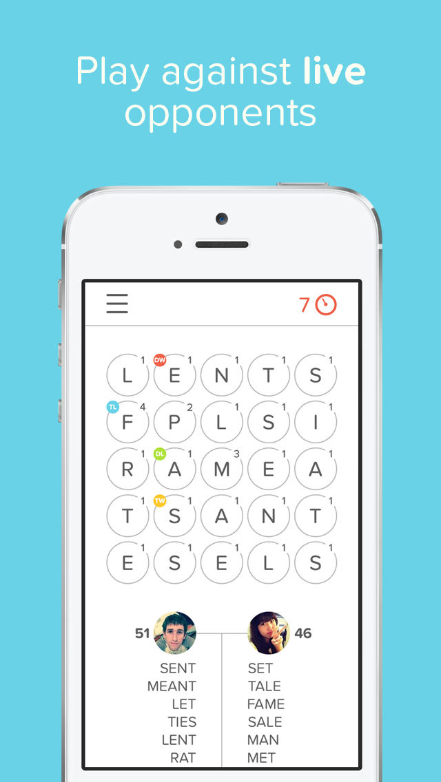 Haste is a clever multiplayer mix of Boggle and Scrabble for iPhone