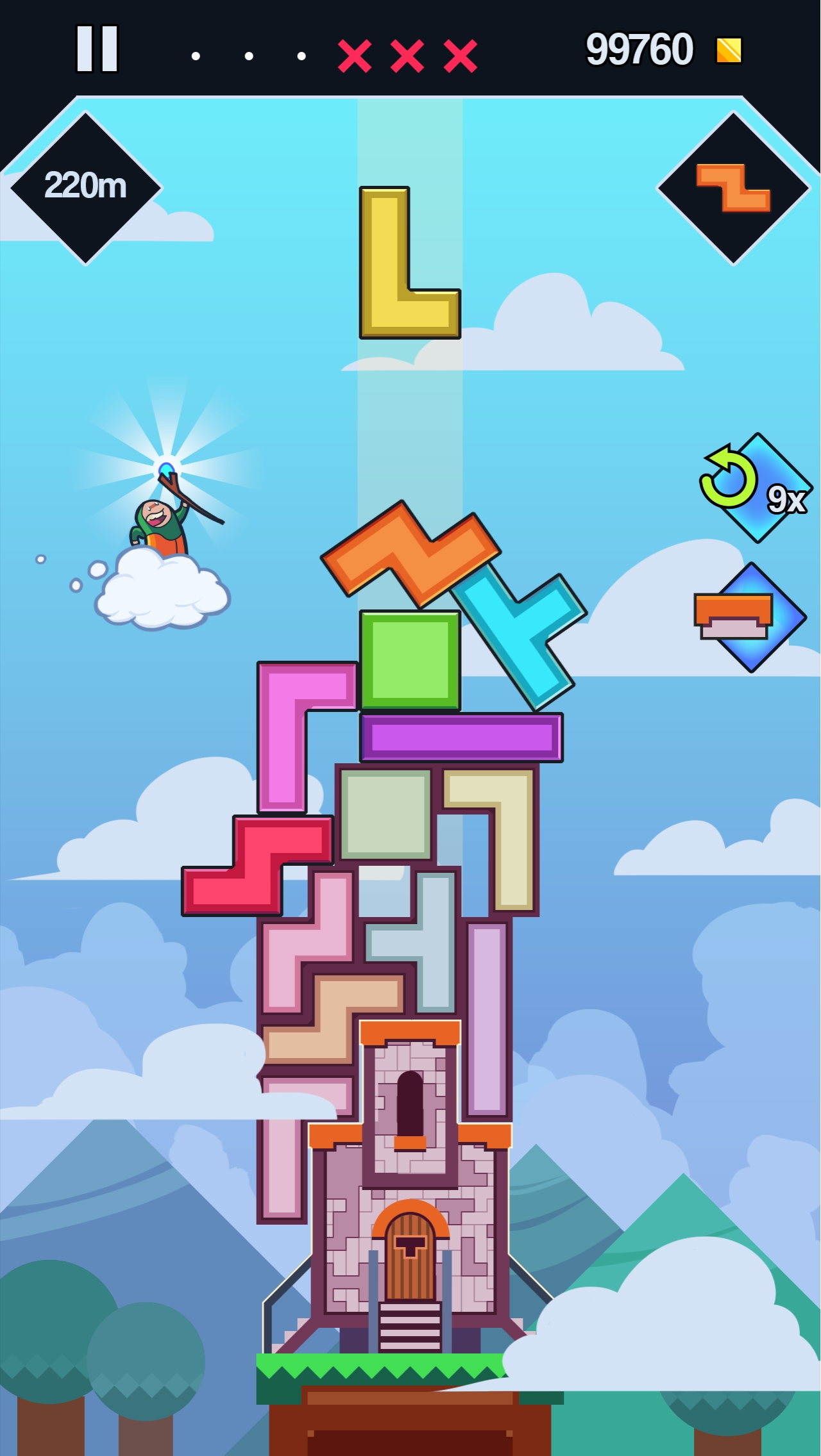 99 Bricks Wizard Academy Is A Tower Building Physics Puzzler Thats Out Right Now For