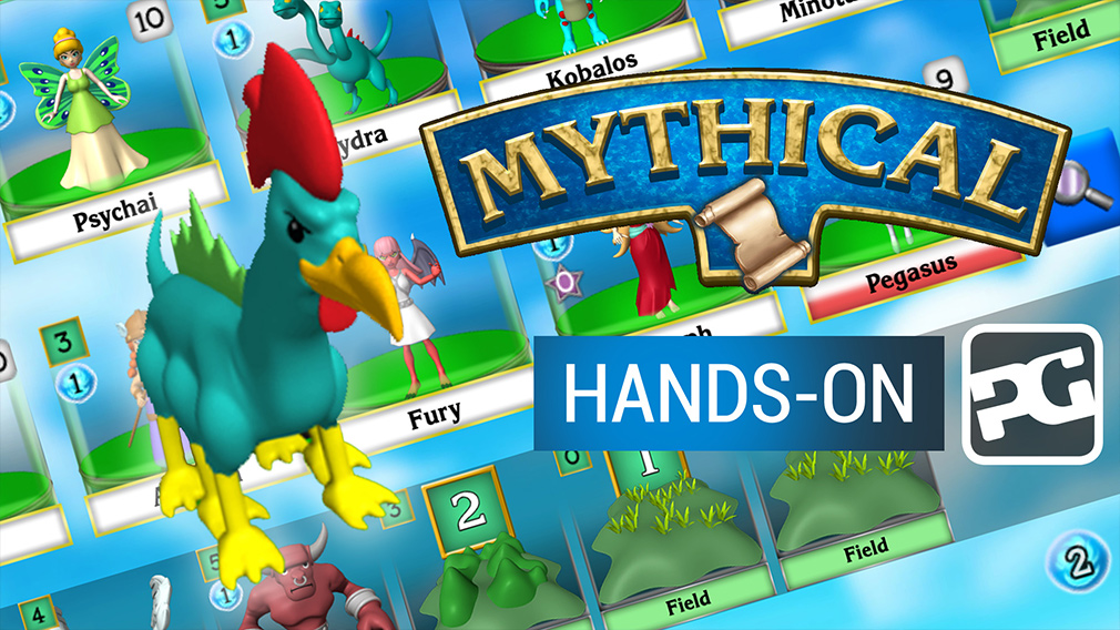 "Mythical video hands-on - ""Dominion-style creature feature card collector"""