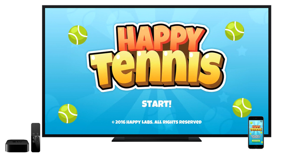 Happy Tennis wants to be the Wii Tennis of the Apple TV, out now