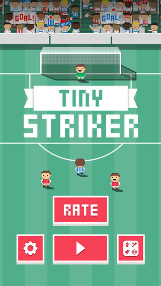 Tiny Striker is a free fast-paced football challenge that has you bending it like Beckham