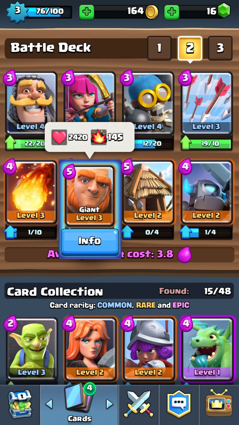 Clash Royale - the best deck for a beginner