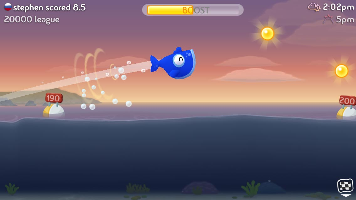 Skim a whale off a glacier in Jetpack Joyride dev's new iOS game Fish Out Of Water!