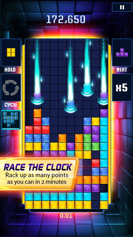 Tetris Blitz-shaped app slots neatly into iOS and Android stores worldwide