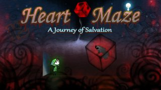 Explore the levels of a rotating puzzle in Heart Maze, out now on iOS