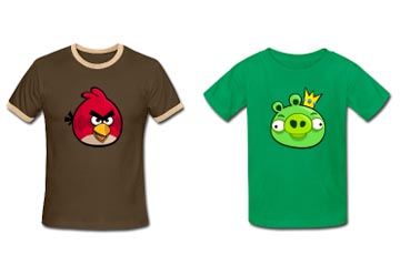 Do you want an Angry Bird or a Giggling Pig on your chest?