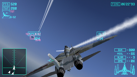 Hands on with Ace Combat X: Skies of Deception on PSP