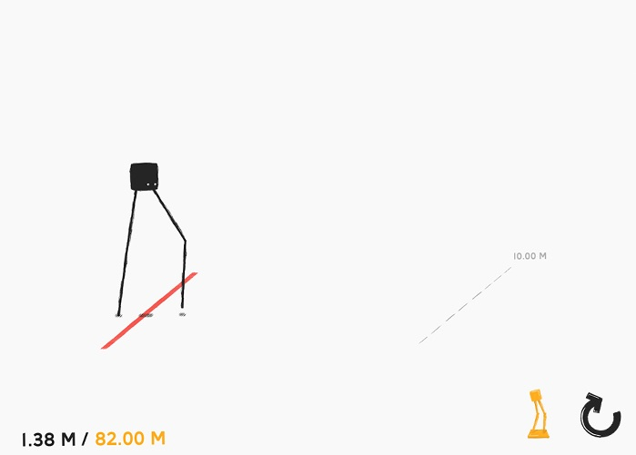 QWOP-like walker Daddy Long Legs steps, falls, and splats onto Android