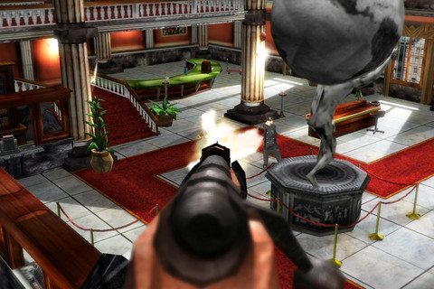 Bronze award-winning on-rails shooter Heist: The Score is out now for the Xperia Play