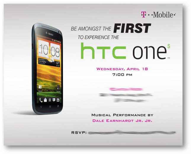 T-Mobile hosting special HTC One S event on April 18th