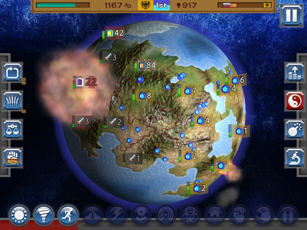 Rapture - World Conquest squashes Civilization into five minutes, out now on iOS