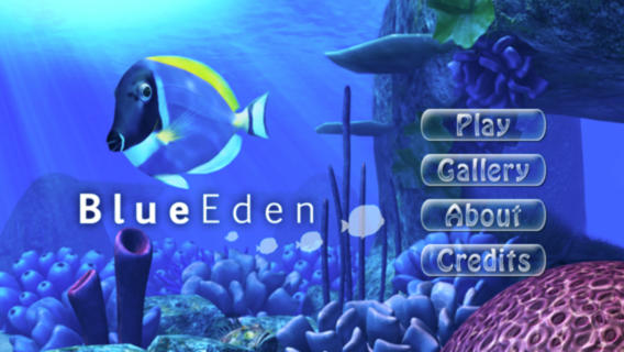 Survive as a school of fish in Blue Eden by dodging sharks and feeding on plankton