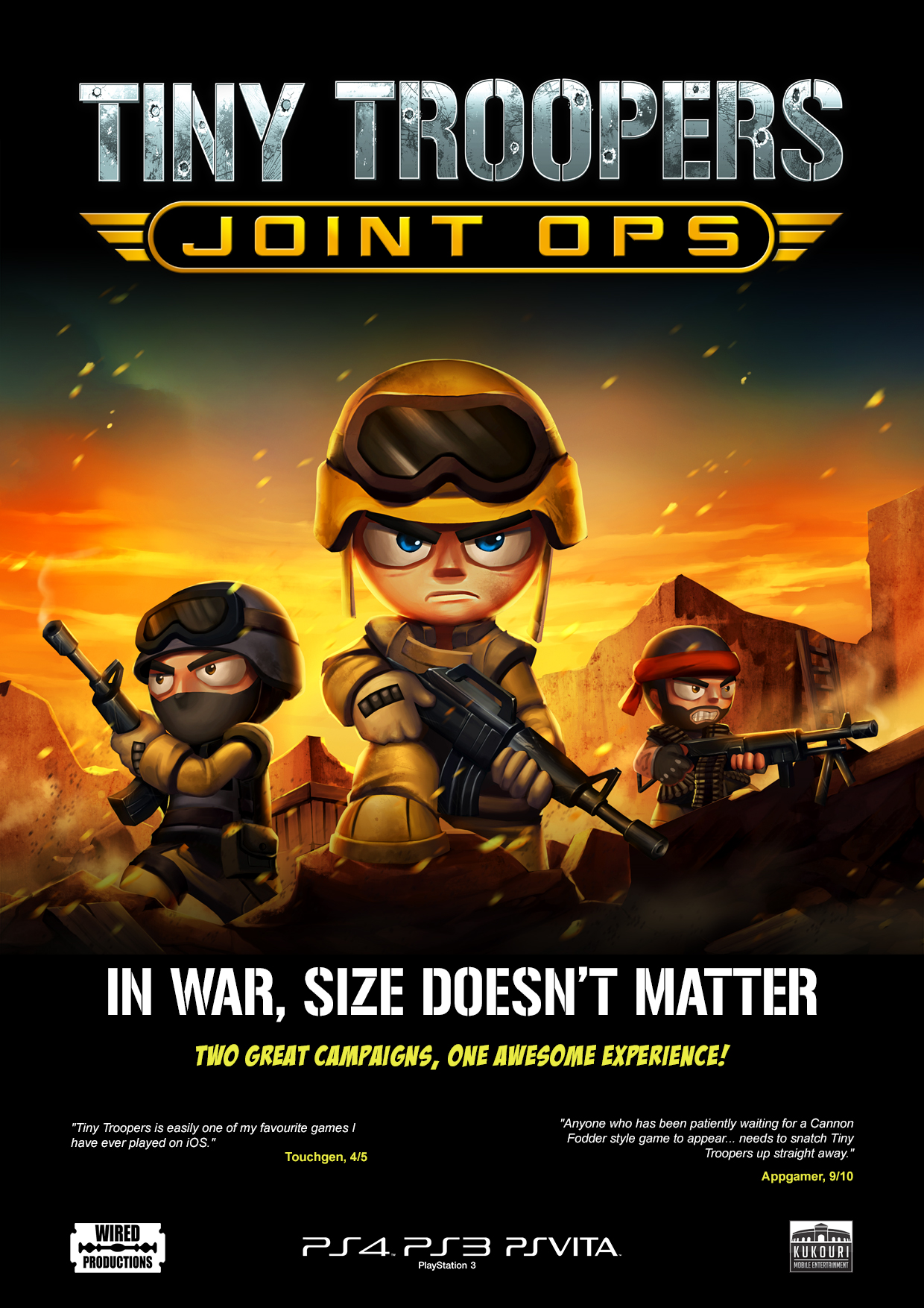 Tiny Troopers Joint Ops is heading to Vita in the form of a dual pack of twin-stick shooters