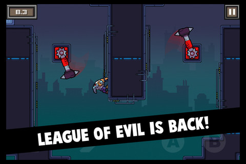Ravenous Games's platformer League of Evil 2 now available for iPhone and iPad for 69p/99c