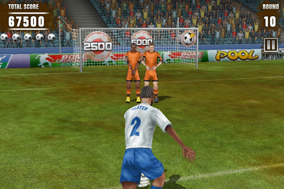 Free iPhone game: Football Kicks