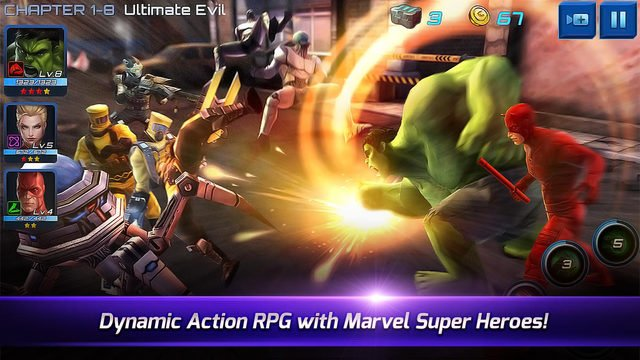 Collect superheroes, form a team, and kick butt in Marvel Future Fight - out now worldwide