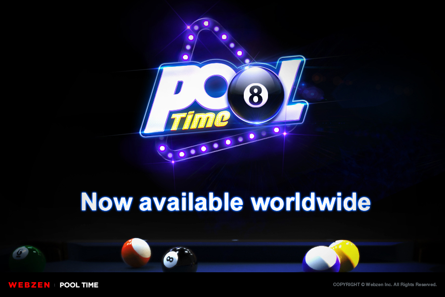Webzen launches realistic billiard game PoolTime