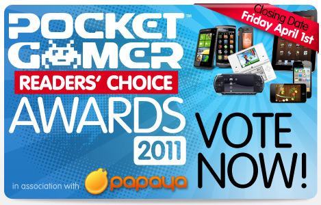 Last chance to vote in the Pocket Gamer Readers' Choice Awards 2011