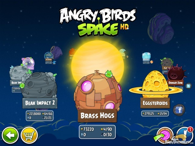 Angry Birds Space update brings 30 new levels and 260 Mirror World levels