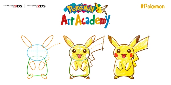Pokemon Art Academy for 3DS will teach you how to draw Pikachu on July 4th