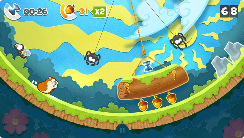 Hammy Go Round is a frantic love story set on an endless hamster wheel world