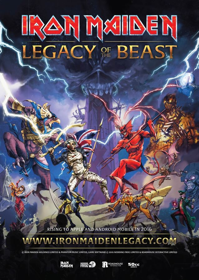 RPG Iron Maiden: Legacy of the Beast gets first trailer and a kick-ass poster