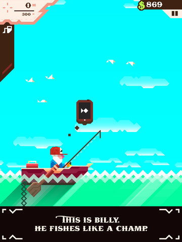 Vlambeer's Ridiculous Fishing surfaces from the murky depths of the App Store