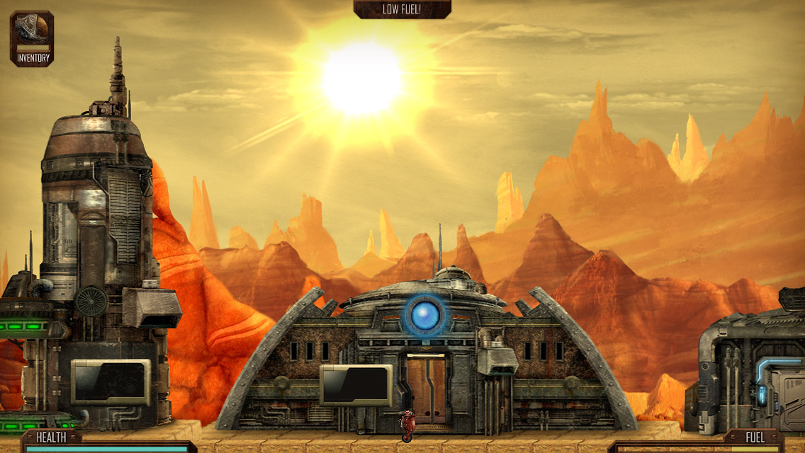Out at midnight: Mines of Mars is a side-scrolling craft-'em-up for iOS set on the Red Planet